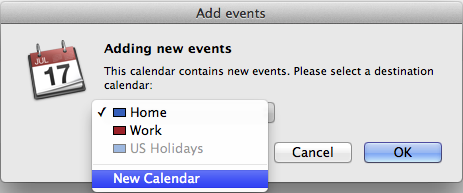MAC iCal Screenshot